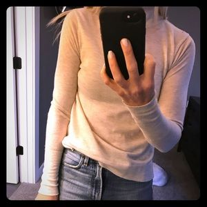 Zara heathered cream turtleneck sweater S